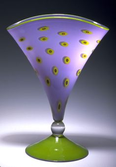 Handblown glass vase from Pinkwater Glass.  The colors are so pretty together.