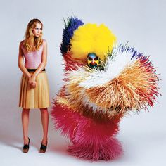 A great editorial story which juxtaposes fall fashion photographed by Ted Sabarese with the imaginative sculpture design of artist Nick Cave. Simple, yet very visual!
