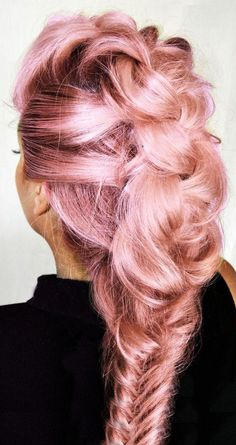 Beautiful Long Braided Faux Hawk ❤︎ #hairstyle  #inspiration