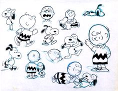 The Charlie Brown and Snoopy Show model sheet (Bill Melendez, 1982)
