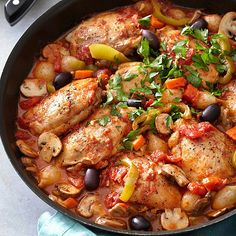Very good! I had a lot more sauce than chicken when it was done so I've been using that with other things. Chicken Cacciatore