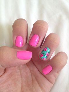 Image via Flower-Nail-Art-Designs-Acrylic-Free-Hand-Floral-Nail-Art | Nail art