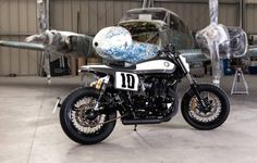 Triumph Bonneville Flat Track by Rocket Supreme #motorcycles #flattracker #motos   caferacerpasion.com