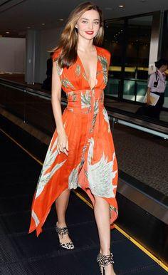 Miranda Kerr in silky orange