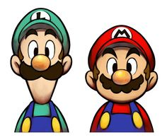 Mario and Luigi: Superstar Saga (Game Boy Advance) Character Artwork & Scenes Mario And Luigi Games, Mario Und Luigi, Super Mario Kunst, Super Mario Art, Mario Sticker Star, Simpsons Drawings, Super Mario Brothers, Chibi Characters, Cute Cartoon Wallpapers