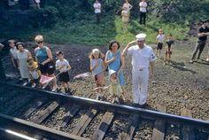 Retronaut - Watching RFK's funeral train pass by