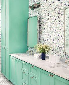 turquoise bathroom cabinets