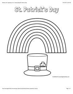 1000 images about st patrick 39 s day on pinterest st for Leprechaun hat coloring page