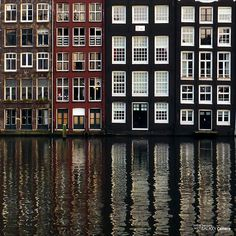 Shared by Mariana. Find images and videos about water, amsterdam and architecture on We Heart It - the app to get lost in what you love. Oh The Places You'll Go, Great Places, Places To Travel, Places To Visit, Wonderful Places, What A Wonderful World, Beautiful World, Beautiful Places, Belle Villa
