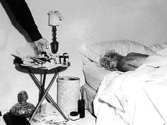 The death scene. Marilyn Monroe, naked and dead in her bed.