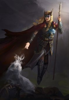 Odin sends them into the field of battle to make choice of those who are to be slain, and to bestow the victory. Character Portraits, Character Art, Character Design, Fantasy Inspiration, Character Inspiration, Fantasy Characters, Female Characters, Vikings, Norse Runes