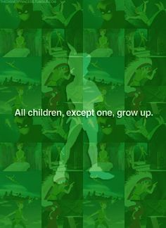 All children, except one, grow up.