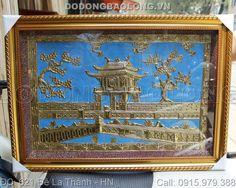 tranh đồng khuê văn các, quà tặng khuê văn các, tranh đồng chùa một cột