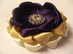 How to make a triple layer rosette flower.