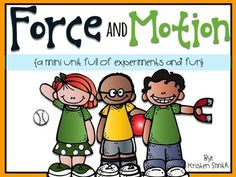 This mini unit includes everything you need to teach your students about force and motion. The packet includes six lesson plans for each of these essential questions: How do things move? What is speed? What is gravity?What is a ramp? What is a magnet? Science Lesson Plans, Science Curriculum, Kindergarten Science, Elementary Science, Science Classroom, Science Lessons, Teaching Science, Science Experiments, Science Ideas