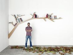 Tree branch shelf by Olivier Dolle