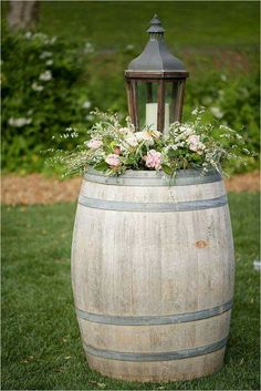 "Say ""I Do"" to These 25 Stunning Rustic Wedding Ideas Rustic wine barrel and vintage wood lantern wedding decor Chic Wedding, Trendy Wedding, Wedding Rustic, Wedding Vintage, Wedding Country, Wedding Church, Wedding Ceremony, Wedding Favors, Ceremony Arch"