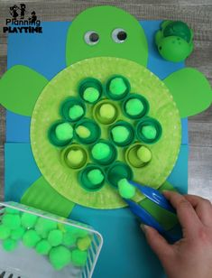 Under the Sea Theme – Planning Playtime Preschool Ocean Theme Dramatic Play – Turtle Craft with Fine Motor Practice Under The Sea Crafts, Under The Sea Theme, Reptiles Preschool, Preschool Crafts, Frog Theme Preschool, Kids Crafts, Art Crafts, Sea Activities, Preschool Activities