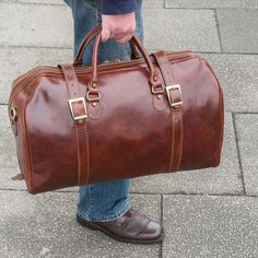 Classic Italian travel bag. Leather Luggage, Leather Briefcase, Rucksack  Backpack, Duffel Bag a5397d4d2a