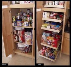 """Do-it-Yourself Rolling Single Shelf Kit - One Shelf (Natural) (See Text) by Brambuilt Cabinets. $64.99. The shelf comes 30"""" wide and you cut it size to fit your cabinet opening.. Size: See Text. This pull out shelf fits cabinets 22"""" deep.. Use this cabinet organizer to organize your kitchen pantry, pots and pans or bathroom cabinets.. Color: Natural. Tired of rummaging through your cabinets trying to see what's in the back? Are you always taking your pots and pans o..."""