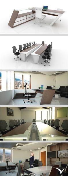 Diseño de interior y mobiliario para oficina de presidencia del Fondo Financiero de Proyectos de Desarrollo (FONADE) de Colombia.DIseñado por el estudio de diseño VIRCORP