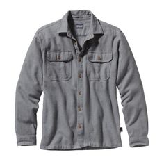 The Patagonia Men's Long-Sleeved Fjord Flannel Shirt is made of organic cotton flannel for rugged warmth in cooler weather. Long Flannel Shirts, Mens Flannel Shirt, Dope Fashion, Mens Fashion, Fashion Trends, Casual Shirts For Men, Men Casual, Ethical Clothing, Outdoor Outfit