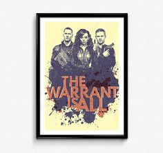 Killjoys // The Warrant Is All, Syfy, Bounty Hunters, Scifi Poster, The RAC, The Nine, Dutch, John Jaqobis, D'avin Jaqobis All Poster, Poster Prints, Killjoys Syfy, Strong Character, Warehouse 13, Linoprint, The Nines, Orphan Black, Dark Matter