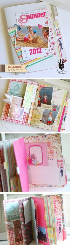 DIY Mini Book by Betsy Veldman for Fancy Pants Designs