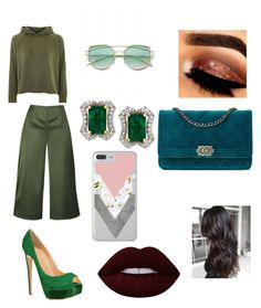 """color green💚💚💎"" by laianeira ❤ liked on Polyvore featuring beauty, Ted Baker, Topshop and Lime Crime"