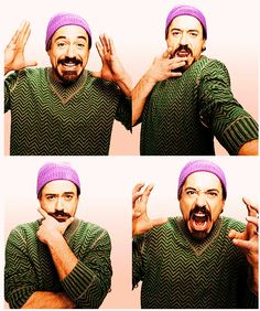 Robert Downey Jr. He is such a weirdo. I'm in love with him.
