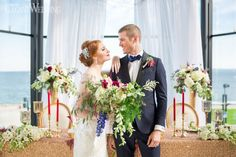 Rouged lips, deep blue tuxedos and charming gold fabrics to bring about the glitz and glamour of old world charm for this vintage meets modern glam wedding. 2017 Wedding Trends, Wedding 2017, Wedding Groom, Wedding Table, Outdoor Wedding Decorations, Wedding Centerpieces, Glamorous Wedding, Elegant Wedding, Traditional Wedding Decor