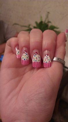 cupcakes by ninskynina - Nail Art Gallery nailartgallery.nailsmag.com by Nails Magazine www.nailsmag.com #nailart