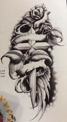 Religião Cross Tattoo Designs, Design Tattoo, Tattoo Sleeve Designs, Flower Tattoo Designs, Tattoo Designs Men, African Tribal Tattoos, Tribal Turtle Tattoos, Tattoo Tribal, Band Tattoos