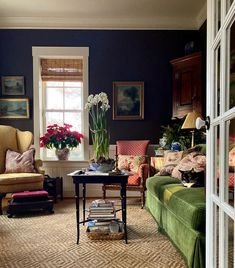 Snoozing in the snug. Home Living Room, Living Room Decor, Living Spaces, Tapis Design, French Country Living Room, Beautiful Interiors, Traditional House, Decoration, Family Room