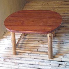 Furniture Small Bamboo Oval Coffee Table