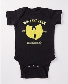 59a1f08fd Wu-Tang Clan Baby Bodysuit - Spencer s
