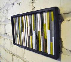 Muito criativo!  Pap: http://www.comofazeremcasa.net/artesanato/quadro-artesanal-decorativo-para-sala-de-estar/