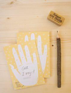 Eco-friendly notepad Hand.