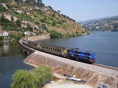 "Aregos, railway ""Linha do Douro"", bording the Douro River. Northern #Portugal"
