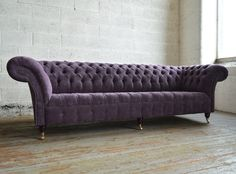 Chesterfield sofa samt  The Monty Velvet Chesterfield Sofa | Velvet chesterfield sofa ...