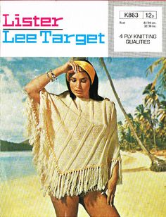 Lister Lee Target 863 ladies poncho vintage knitting pattern Listing in the 3 and 4 ply,Patterns,Knitting & Crochet,Crafts, Handmade & Sewing Category on eBid United Kingdom