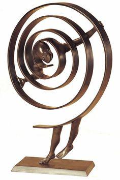 El vértigo, la náusea (Imagen: escultura de bronce de Jean Louis Corby)