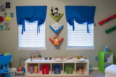 Colorful Disney and Toy Story Inspired Nursery and Play Room - with DIY tutorials and shopping lists!