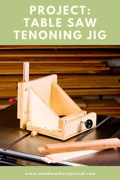 The cleanest way to cut tenons on a table saw is with workpieces standing vertically. To do it safely, you need a tenoning jig that holds parts upright and securely as you run them through the blade. We show you how to build it. Ridgid Table Saw, Table Saw Jigs, Diy Table Saw, A Table, Easy Woodworking Projects, Woodworking Jigs, Wood Projects, Woodworking Equipment, Woodworking Techniques