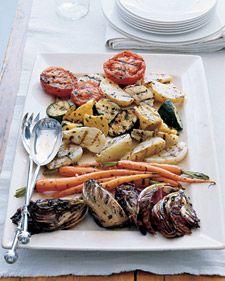 I love grilled veggies!