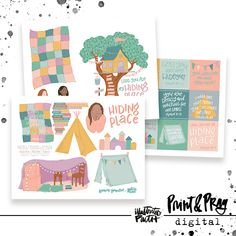 Hiding Place | Bible Journaling Printable Ephemera by Illustrated Faith Blanket Fort, Faith Bible, Hiding Places, Illustrated Faith, Pep Talks, Comfy Blankets, Forts, Pattern Paper, Art Journaling