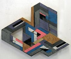 Geometric Wooden Sculptures by Aaron Moran.  I was always a sucker for a nice modular piece of art.
