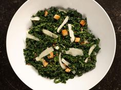 Get Kale Salad with Pancetta and Pecorino Recipe from Food Network Vegetarian Recipes, Cooking Recipes, Healthy Recipes, Healthy Food, Panchetta Recipes, Food Network Recipes, Food Processor Recipes, Barefoot Contessa, Salads