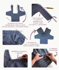 patrón chaqueta cruzada punto