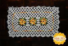 Tapete de Crochê de Barbante com Flores | Belle Fiori